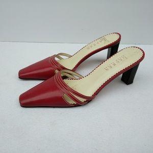 Ralph Lauren Wednesday Red Slip On Mules 6B